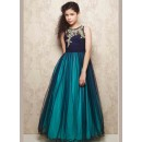 Kids Wear Beautitul Readymade Blue Net Gown - 78922