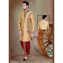 Wedding Wear Brown & Maroon Jacquard Sherwani - 75500