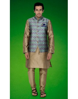 Ready-Made Traditional Brown Indo Western Kurti With Jacket - 78719