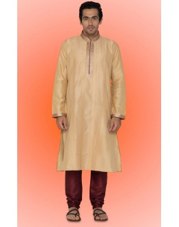 Ready-Made Traditional Brown Kurta & Pajama - 78731