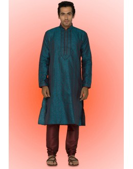 Ready-Made Traditional Blue Kurta & Pajama - 78737
