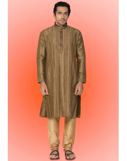 Ready-Made Ethinc Wear Brown Kurta & Pajama - 78738