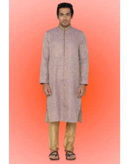 Ready-Made Ethnic Wear Lavender Kurta & Pajama - 78742