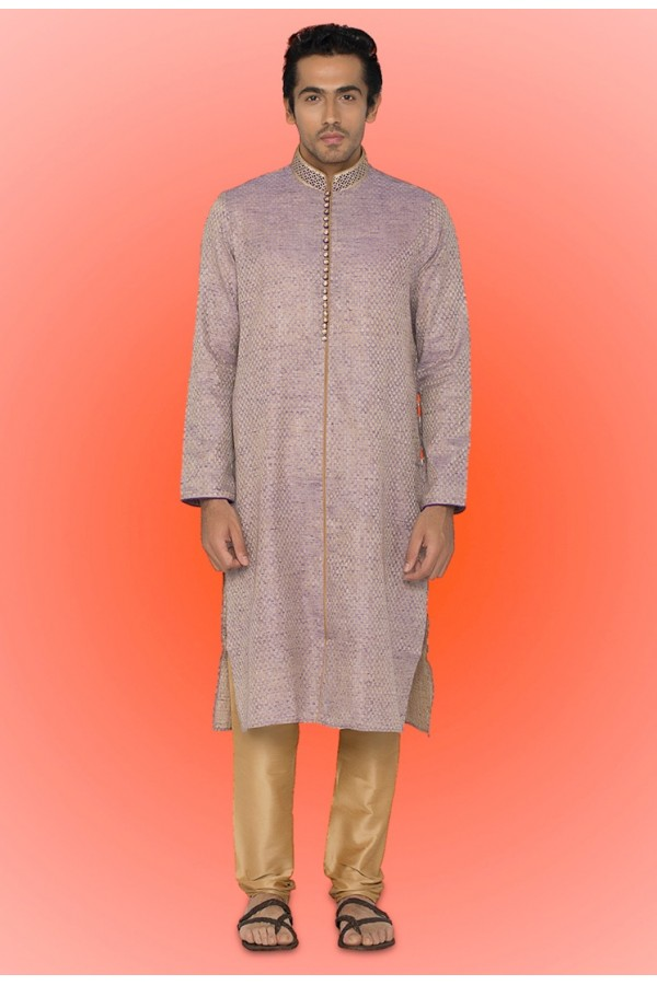 Ready Made Clothing : Ready made ethnicl wear lavender kurta pajama