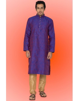 Ready-Made Traditional Purple Kurta & Pajama - 78746