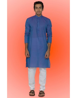 Ready-Made Ethnic Wear Blue Kurta & Pajama - 78749
