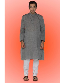 Ready-Made Casual Wear Grey Kurta & Pajama - 78750