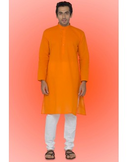 Ready-Made Traditional Orange Kurta & Pajama - 78751