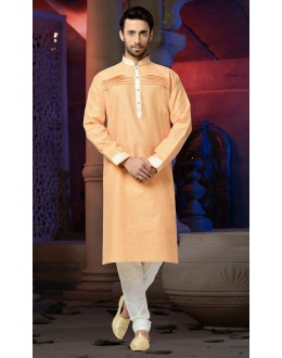 Ready-Made Traditional Orange Kurta & Pajama - 78798
