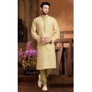 Ready-Made Party Wear Cream Kurta & Pajama - 78803