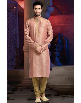 Ready-Made Ethnic Wear Pink Kurta & Pajama - 78804