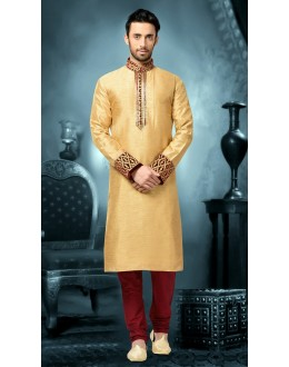Ready-Made Festival Wear Cream Kurta & Pajama - 78809