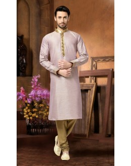 Ready-Made Ethnic Wear Light Pink Kurta & Pajama - 78826