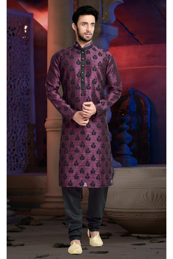 Ready-Made Festival Wear Fuchsia Kurta & Pajama - 78830