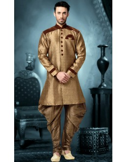 Ready-Made Wedding Wear Brown Indo Western Kurti - 78832
