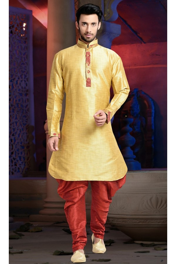 Ready-Made Traditional Yellow Indo Western Kurti - 78838