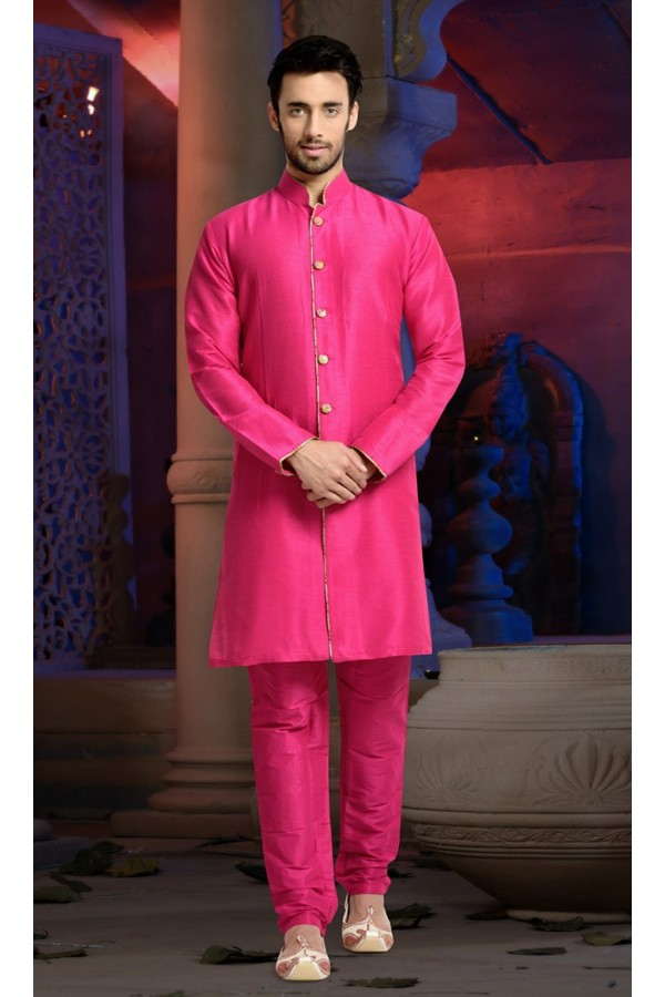 Ready-Made Ethnic Wear Pink Indo Western Kurti - 78839