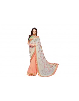 Party Wear Georgette  Saree - RKVR2101