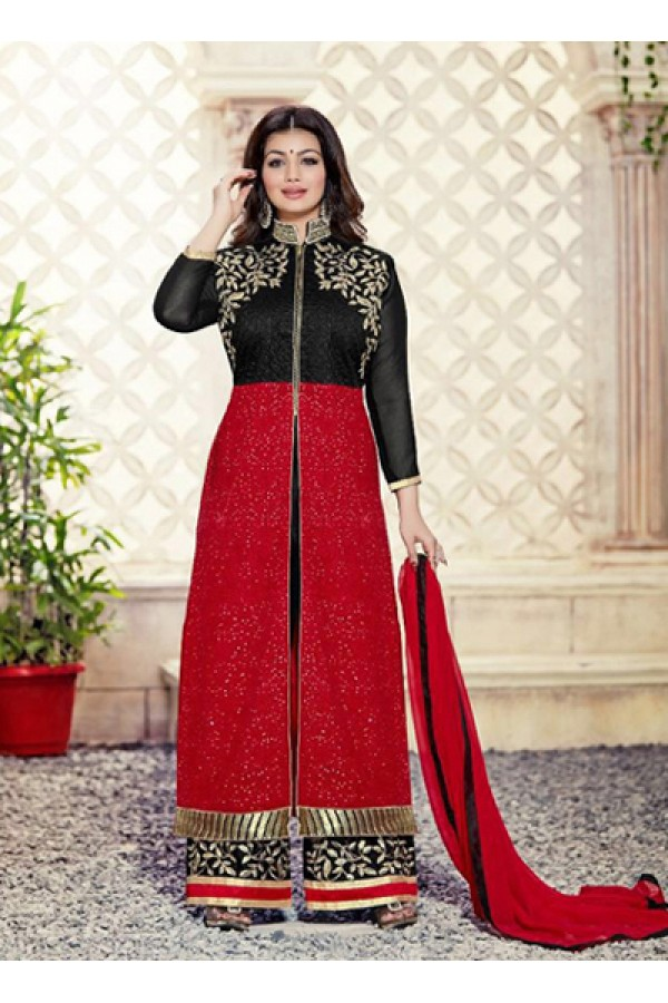 Eid Special Black, Red,  Palazzo Suit - 70040