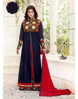 Eid Special Navy Blue, Red, Palazzo Suit - 70038