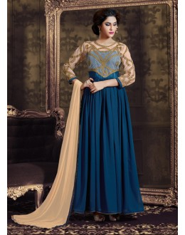 Eid Special Navy Blue, Georgette Anarkali  - 70206