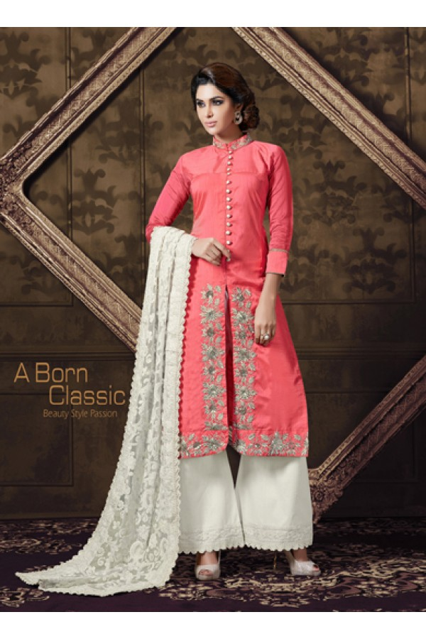 Eid Special  Pink Georgette Palazzo Suit  - 70208