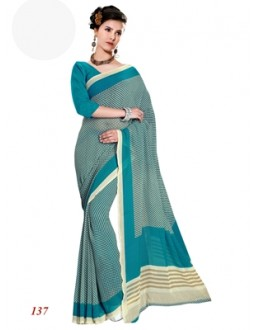 Ethnic Wear Georgette Blue Saree - RKAM137