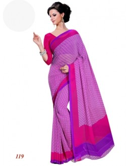 Party Wear Georgette Pink Saree - RKAM119