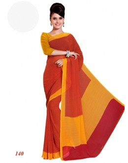Party Wear Georgette Red Saree - RKAM140
