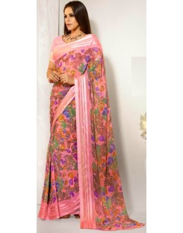 Designer Party Wear Pink Saree-RKAM8016(FH-RKAM)