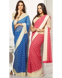 Designer Party Wear Saree-RKAM8007 & 8008(FH-RKAM)