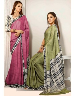Designer Party Wear Saree-RKAM8009 & 8010(FH-RKAM)