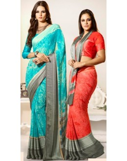 Designer Party Wear Saree-RKAM8023 & 8024(FH-RKAM)