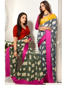 Designer Party Wear Saree-RKAM8025 & 8026(FH-RKAM)