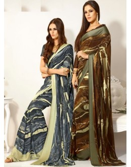 Designer Party Wear Saree-RKAM8027 & 8028(FH-RKAM)