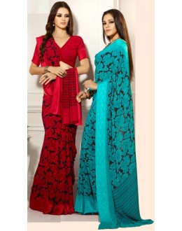 Designer Party Wear Saree-RKAM8034 & 8035(FH-RKAM)