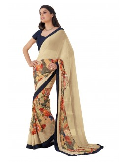 Party Wear Georgette Multicolor Saree - RKLP4110