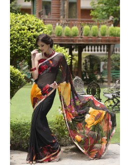 Designer Party Wear Black Saree-RKRO1152(FH-RKRO)