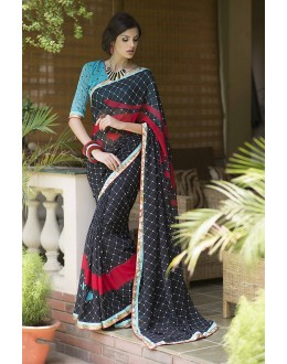 Designer Party Wear Black Saree-RKRO1158(FH-RKRO)