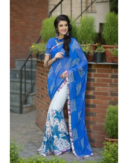 Designer Party Wear Blue Saree-RKRO1142(FH-RKRO)