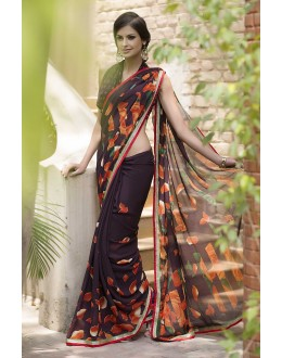 Designer Party Wear Brown Saree-RKRO1159(FH-RKRO)