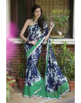 Designer Party Wear Dark Blue Saree-RKRO1149(FH-RKRO)