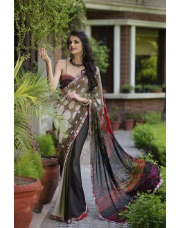 Designer Party Wear Grey Saree-RKRO1143(FH-RKRO)
