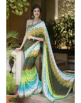 Designer Party Wear Multicolor Saree-RKRO1157(FH-RKRO)