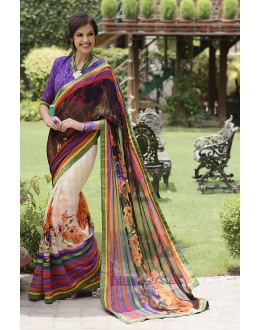 Designer Party Wear Multicolor Saree-RKRO1160(FH-RKRO)