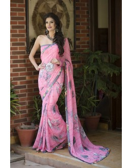 Designer Party Wear Pink Saree-RKRO1150(FH-RKRO)