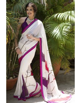 Designer Party Wear White Saree-RKRO1153(FH-RKRO)