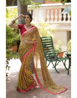 Designer Party Wear Yellow Saree-RKRO1141(FH-RKRO)