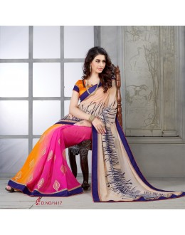 Designer Multicolor Embroidered Georgette Saree - RKSG1417 ( FH-RKSG1416 )