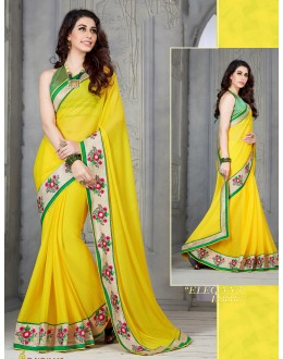 Designer Yellow Embroidered Georgette Saree - RKSG1418 ( FH-RKSG1416 )